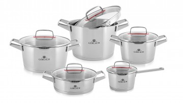 A 10-element set of pots – SUPERIOR + FREE DELIVERY