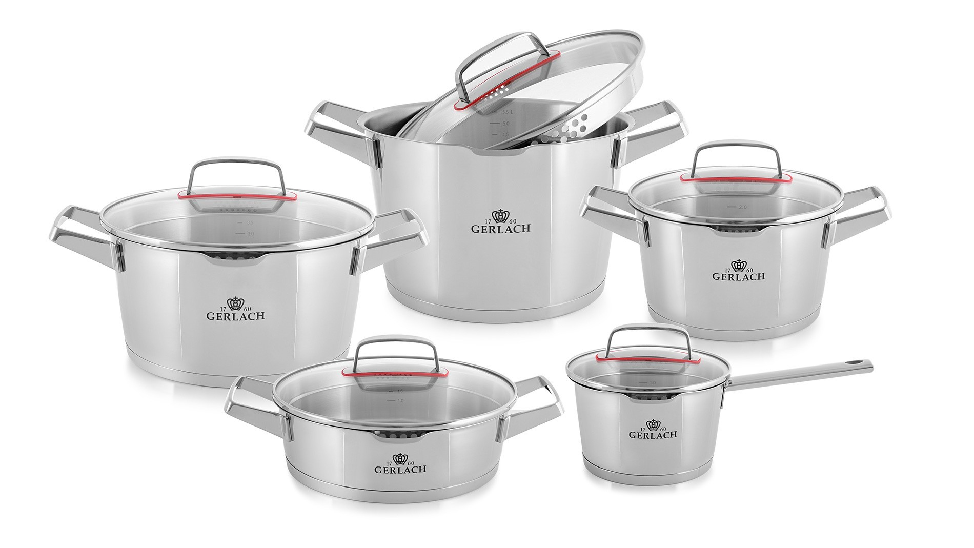 A 10-element set of pots – SUPERIOR