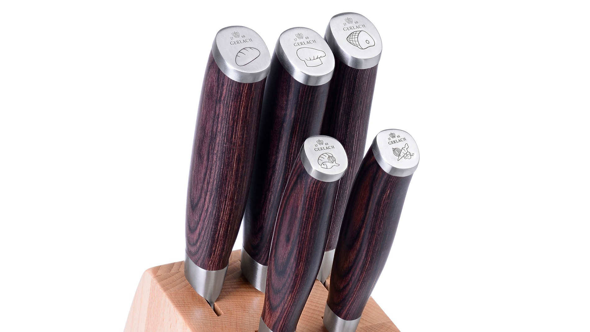 A set of DECO WOOD knives