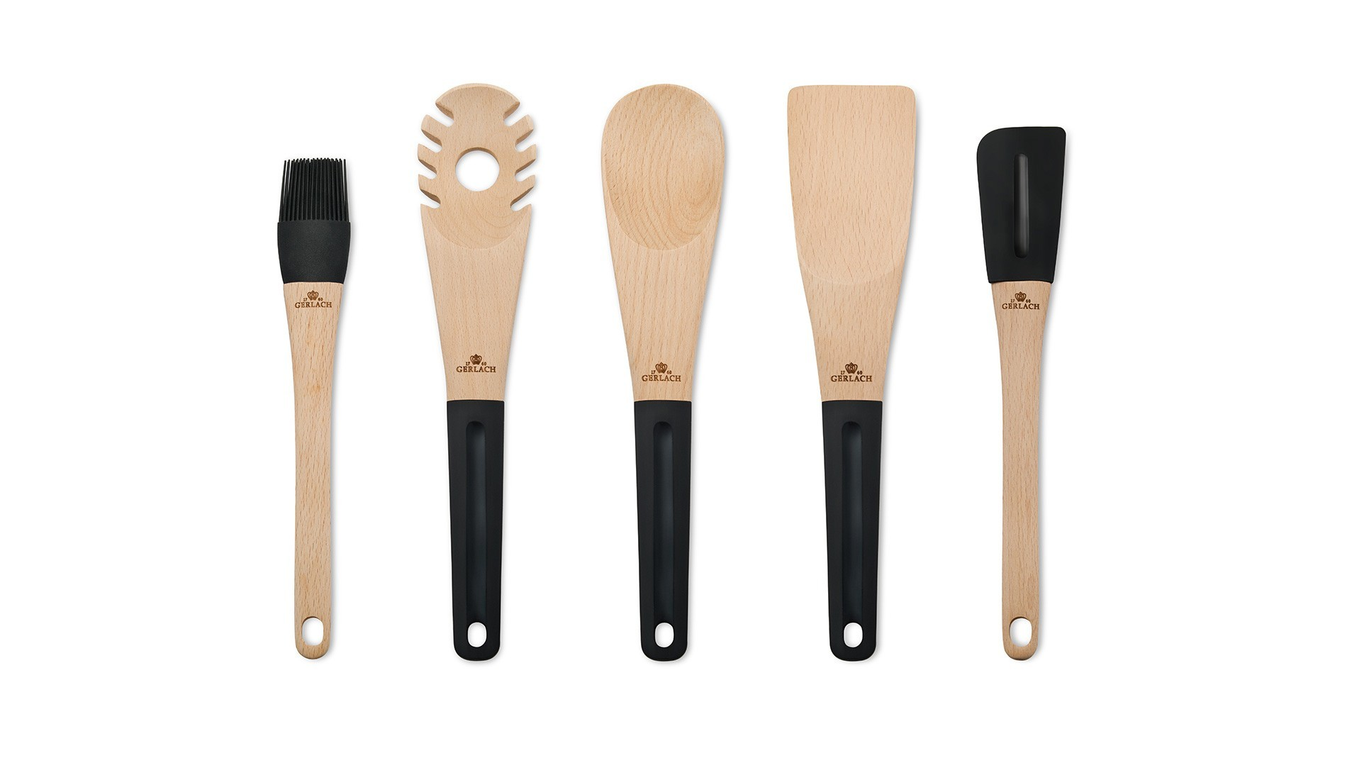 Wooden spoon with holes NATUR