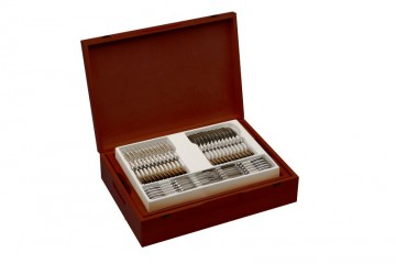 Cutlery Set, 68 pcs – gloss RETRO + wooden case