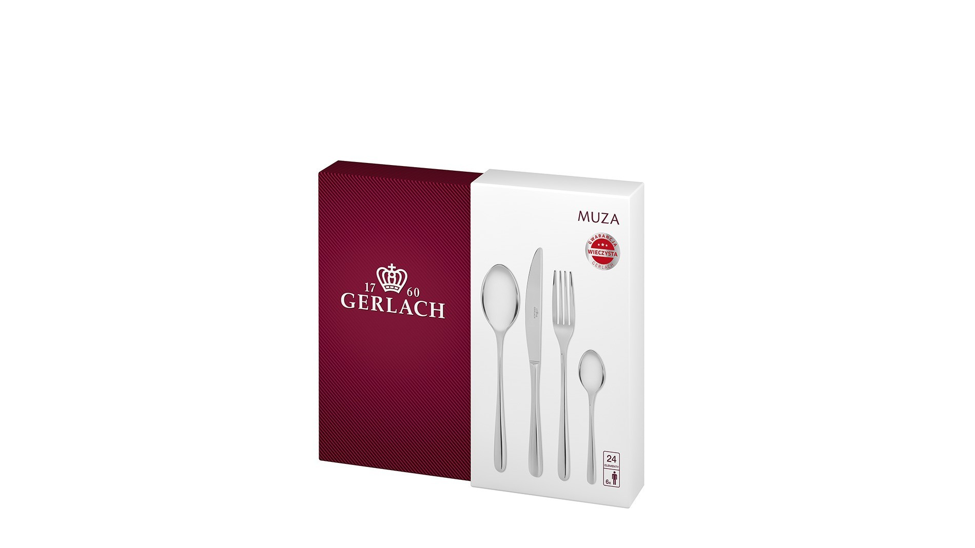 Cutlery Set, 24 pcs – gloss MUZA