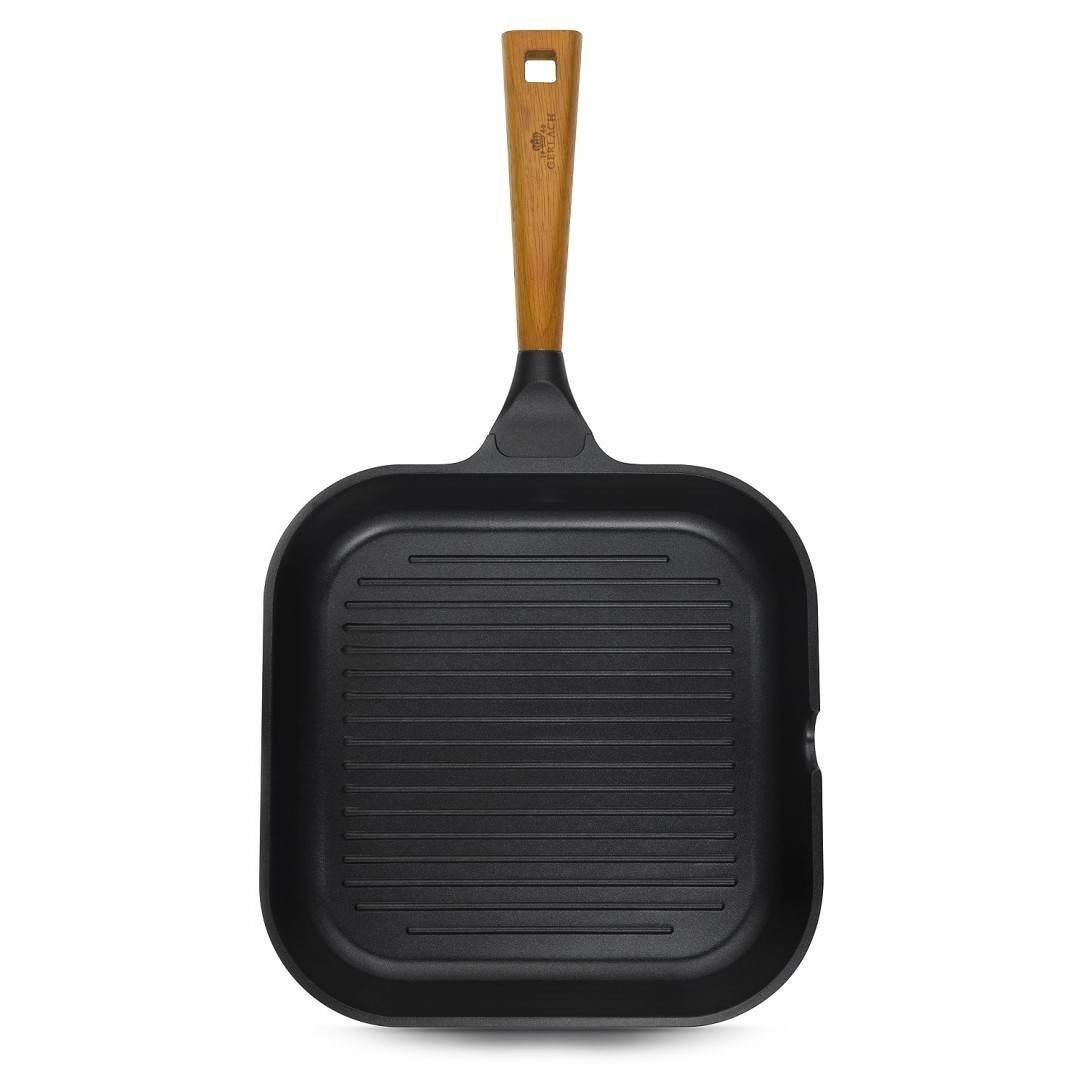 3x Frying pan with ceramic coating - NATUR 20/28/ 28 grill