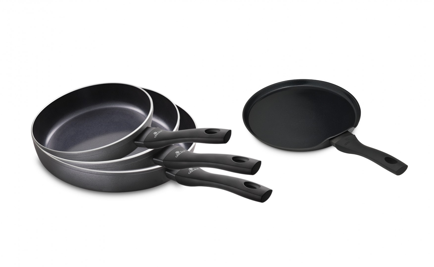 3x Frying pan CONTRAST PROCOAT + Pancake frying pan HARMONY CLASSIC