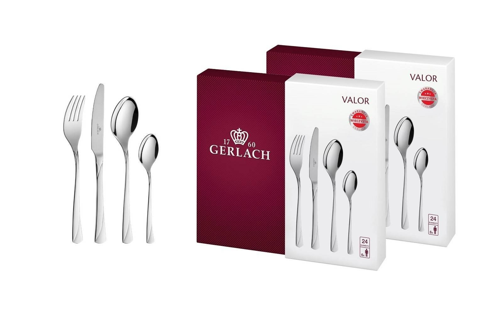 Cutlery Set, 48 pcs gloss– VALOR